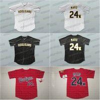 camisetas rojas de beisbol al por mayor-Hombres Bruno Mars 24K Hooligans Red Baseball Jersey BET Awards Baseball Jersey alta calidad envío gratis Jerseys