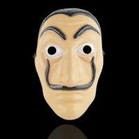 máscaras de xmas venda por atacado-Cosplay Party Máscara La Casa De Papel Máscara Facial Salvador Dali Máscara de Filme Realista Halloween XMAS Suprimentos