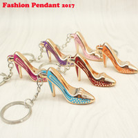 Wholesale Shoes Key Chain Ring - Shoes Keychain Purse Pendant Bags Cars Shoe Ring Holder Chains Key Rings For Women Gifts Women acrylic High Heeled