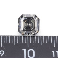 graue edelsteine großhandel-Syn Diamanten grau Farbe 8 * 8 mm Asscher geschnitten Moissanites lose Edelsteine Steine Neuankömmling