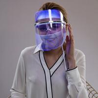 инструменты для лечения кожи оптовых-Терапия света аппаратуры красотки стороны пользы дома лицевой маски Сид Светлая для Подмолаживания кожи перевозчика морщинки обработки угорь