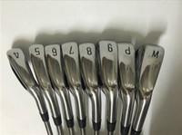 eje de calidad al por mayor-Palos de golf A1 718 Set de hierro 718 A1 Hierros forjados Golf Palos de golf de alta calidad 4-9PW Eje de acero con tapa de cabeza