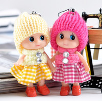 Wholesale 7 cm Mini kids girl toys doll with strap for mobile phone charm