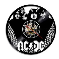 Wholesale rock music decor - Rock Band AC DC3 Clock Modern Timepiece Music Lover Home Decor Wall Clock Creative and Antique Style Hanging Clock