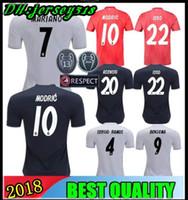 sergio ramos jersey al por mayor-18 19 Camiseta de fútbol del Real Madrid Asensio SERGIO MODRIC RAMOS MARCELO BALE KROOS ISCO Camisetas de fútbol de la liga campeón Adultos y niños