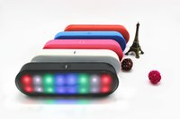 Wholesale new speakers pill for sale - Group buy New Pill Mini Portable Wireless Bluetooth Speaker With Pulse LED Liht Flash Pill XL Speaker Bulit in Mic Handsfree PK BT808L Free DHL