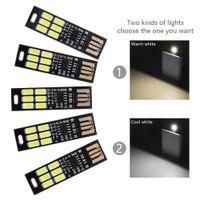 1w 5v geführt großhandel-Verkäufe Mini USB Power 6-LED Nachtlicht 1W 5V Touch Dimmer Warmes Licht (5 Stück)