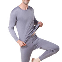 Wholesale Thick Warm Winter Mens Shirts - Winter Mens Long Johns Hot Sale Warm Thermal Underwear Mens Long Johns Sexy Black Underwear Sets Thick Plus Velet Clothing