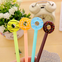 Wholesale Pens Favors - Creative Cartoon Donuts Gel Pens Cute Writing Pen Children School Stationery Birthday Party Favors Gift