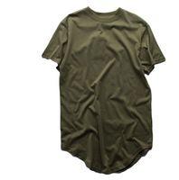 camisetas para swag al por mayor-Camisetas de verano para hombre Camiseta extendida Palangre Hip Hop Camisetas Ropa Swag Harajuku Rock Tops Homme de manga corta