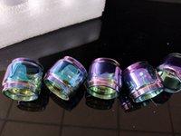 ingrosso bulbo di vetro per la penna vape-placca Rainbow Color Fat Estendere Espansione Sostituzione Bulbo Tubo di vetro per TFV12 Baby Prince TFV8 Big X Baby Vape Pen 22