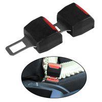Wholesale plug alarm - 2pcs Universal Car Seat Belt Clip Black Extender Safety Belts Plug Alarm Canceller
