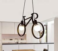versteckte nachtsicht ip-kamera großhandel-Retro Nordic Moderne Eisen Fahrrad Kronleuchter Cafe Beleuchtung LED Loft Bar Deckenleuchte Schlafzimmer Droplight Store Home Decor Geschenk a790