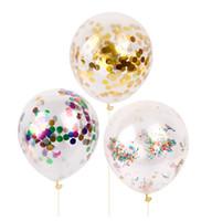penas do faisão vermelho venda por atacado-Balões De Confete Balão De Ouro De Lantejoulas De Látex 12 Polegadas Decoração de Festa Balões Com Lantejoulas Decorações Da Festa de Casamento
