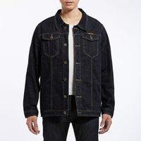 ingrosso giacche 8xl-2018 Brand Designer Jacket Coat Moda Denim Luxury Mens Giacche Primavera Plus Size Uomo Abbigliamento Cowboy Cappotti Giacca di jeans nero M-8XL