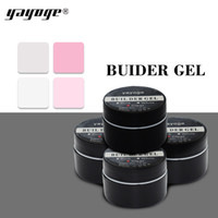 Wholesale tips for clear nails - YAYOGE Builder Gel for Nail extensions LED uv nail gel polish Hard gel varnish 15g Pink Clear White false tips Long Black case
