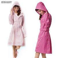 Wholesale Outdoor Raincoats - Fashion long sections Waterproof Womens Raincoats Outdoor Travel Tour Rainwear Female Rain poncho rain jacket women
