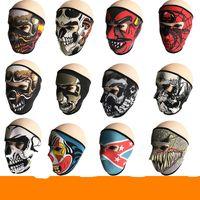 máscaras de esqui para esportes venda por atacado-Novo Padrão Crânio Máscara Facial Cores Halloween Costume Party Ao Ar Livre Moto Mantenha Quente Cachecol De Esqui Snowboard Esportes Toalha 6fd W