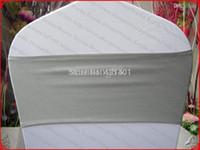 серебряные свадебные банкетные стулья оптовых-Light Silver Single Layer Spandex Bands / Lycra Band / Expand Bands / крышка стула створки для свадебного банкета украшения