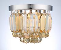 ingrosso luce della sala fredda-Lampada di cristallo europea semplice lampada da soffitto moderna creativo portico lampade luci corridoio balcone luci sala sala