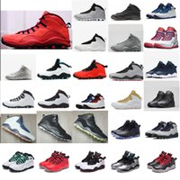 15e16fec9b4277 Mens retro 10s basketball shoes Westbrook LA Cement OVO Orlando Steel  Shadow Grey I am Back j10 aj10 Jumpman 10 X sneakers boots with box