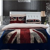 uk usa flag оптовых-3pcs/4pcs UK flag Bedding Set Twin/Full/Queen Size USA flag duvet cover Free shipping via Fedex