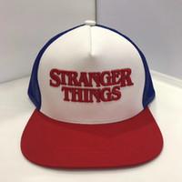 kapak türleri toptan satış-Stranger Şeyler Kapaklar Şapkalar Beyzbol Snapback Kap Yaz Moda Pamuk Hip Hop Şapka 7 Türleri
