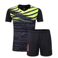 masa tenisi mayo gömlekleri toptan satış-Badminton Takımı Forması Erkekler / Kadınlar Tenis elbise setleri Tenis Voleybol eğitimi masa tenisi t-shirt takım elbise ücretsiz kargo
