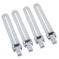 Wholesale 9w Uv Tubes - 9w Uv Lamp Light Bulb Tube Gel Nail Art Dryer, Set of 4