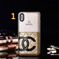 Wholesale screen printed bags online - Luxury Brand Card Slot Phone Case for Iphone X plus plus plus S PU Leather Hybrid TPU Back Case Cover