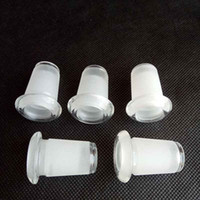 Wholesale female pipe connector - Glass Down Stem Pipe Adapter Reducing Adapter 18mm Male to 14mm Female Reducer Connector Ash Catcher Slit Diffuser for Bongs Water Pipe