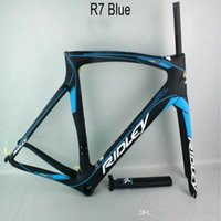Wholesale Carbon Cycle Frames - 2018 style Free shipping sky team carbon bike frame Ridly bicycle carbon frame T1000 UD cycling road bike frame set free shipping