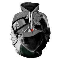 sudadera con capucha del personaje al por mayor-Marca Hombre Otoño Casual kakashi Hoodie Anime Fire Shadow Personaje 3D Sudadera Hoodie blusa naruto kakashi chaqueta