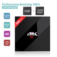 dual core android media caixa venda por atacado-Caixa de tv Android S912 Caixa de TV 3 GB 32 GB H96 Pro android 7.1 tv caixas de streaming de 4K dupla WIFI BT4.1 media player