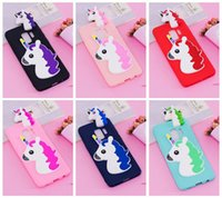 Wholesale cute 3d note case for sale - Group buy 3D Unicorn Soft Case For Galaxy S9 Plus S8 Note A8 J3 J5 J7 EU Silicone Cute Lovely Cartoon Skin Cover Fashion Cover Rubber