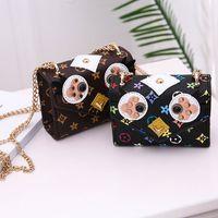 ingrosso uccelli natale-Borsetta per bambini Borsette per borsette per bambina Mini borsette per ragazze per adolescenti Principessa PU Sacchetti stampati con uccellini Simpatici regali di Natale 5 colori