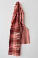 bufanda de cachemira caliente al por mayor-Patrones de cuadros ACNE Echarpe Bufanda de marca de lujo Unisex 2018 Mujer Hombre Canadá Bufanda de cachemira de lana Pashmina Borlas Mujeres Hombres Abrigo