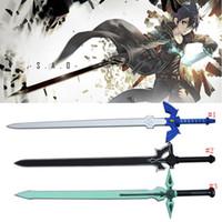 Wholesale art online sao online - 3 styles cm Sword Art Online SAO Legend of Zelda Kirigaya Kazuto Elucidator Dark Repulser Cosplay Prop Sword PU Foam Modle Toy MMA615