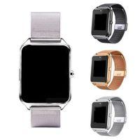 трекер b оптовых-20X Bluetooth Smart Watch Phone Z60 из нержавеющей стали поддержка SIM-карты TF камеры фитнес-трекер GT08 DZ09 Smartwatch для IOS Android N-BS