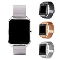 ingrosso tracker b-20X Bluetooth Smart Watch telefono Z60 supporto in acciaio inox SIM Card TF Fitness Tracker GT08 DZ09 Smartwatch per IOS Android N-BS