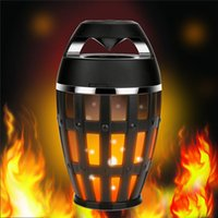 Wholesale Dhl Mobile - LED Fire Flame Wireless Bluetooth Speakers Portable Stereo Hifi Cradle Newest Arrvial Free Shiipping By DHL