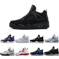 2f233e1dc8f7e0 4 4s Basketball Shoes men Fear Pack Toro-Bravo Dunk from above cavs bred  Thunder Motosports Royalty Cement Black cat Oreo Sports Sneaker
