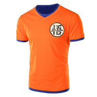 anime ropa masculina al por mayor-dragon ball camiseta súper goku costume Camiseta hombre anime masculina Dragonball super Z Beerus camiseta azul clothing top tees Y1892108