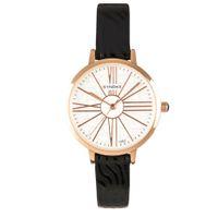 correa de cuero negro vestido reloj al por mayor-Reloj minimalista de cuero negro para mujer Nuevo 30m impermeable Vestido de mujer reloj de pulsera de cuarzo reloj de mujer moderno 2018