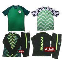 Wholesale new train sets - New Nigeria soccer Tracksuit 2018 World Cup jacket 18-19 Nigeria STARBOY Okocha jerseys set football training suit Sportswear