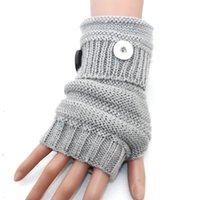 Wholesale one direction gold jewelry resale online - 5 colors warm winter mm metal Snap Button gloves snap mittens watches women one direction female DIY jewelry