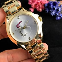 Wholesale watch couple rose gold - New high quality Spanish Female cute wrist watch elegant Royal lady watch rose gold couple creative quartz watch beautiful gift wholesale