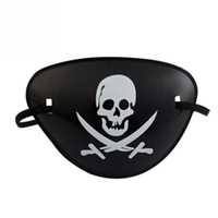 Wholesale costumes for pirates online - Halloween costume Decoration Fancy Dress party props pirate party supplies pirate eye patch Skull Cosplay
