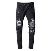 Wholesale summer motorcycle for sale - Group buy Balmain Camouflage Fashion jeans Mens Simple Summer Motorcycle biker Lightweight Jeans Casual Solid Classic Straight women men jeans