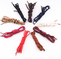 Wholesale shoelace new online - HOT2019 new waxing lace round leather shoes casual shoes leather laces a variety of color optional manufacturers flip shoes laces